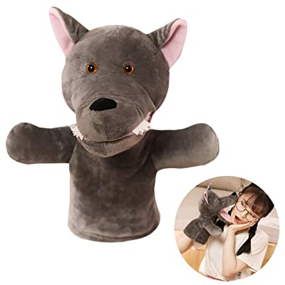 Hand Puppet Cartoon Open Mouse Wolf Plush Puppet Storytelling Toy for Kids: Everything Else