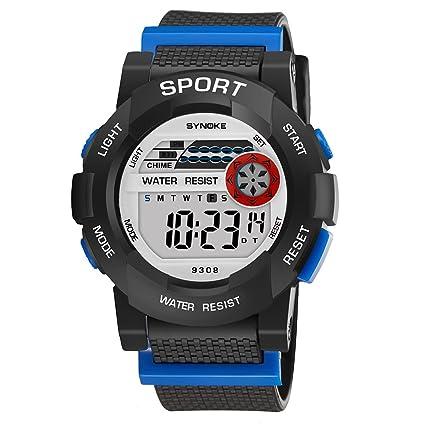 Domybest Fashion Sports relojes adolescentes Boy Girl Digital reloj de pulsera impermeable luminoso alarma reloj estudiantes