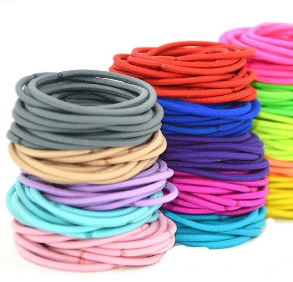 100pezzi Mixed elastici per capelli elastico gomma capelli colorati capelli gioielli di alta qualità...
