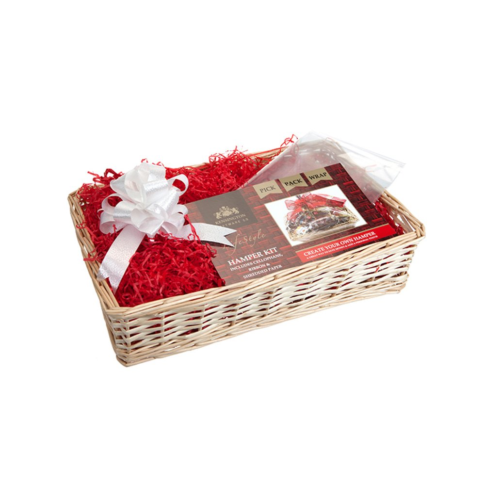 Gift set hamper by kensington giftware co includes cream wooden gift set hamper by kensington giftware co includes cream wooden hamper film wrap and ribbon amazon kitchen home solutioingenieria Choice Image