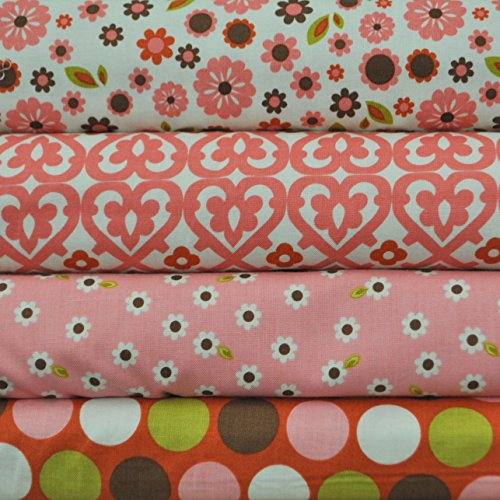 (Indian Summer Cream 4 Fabric Fat Quarters by Zoe Pearn for Riley Blake, 1 yard total)