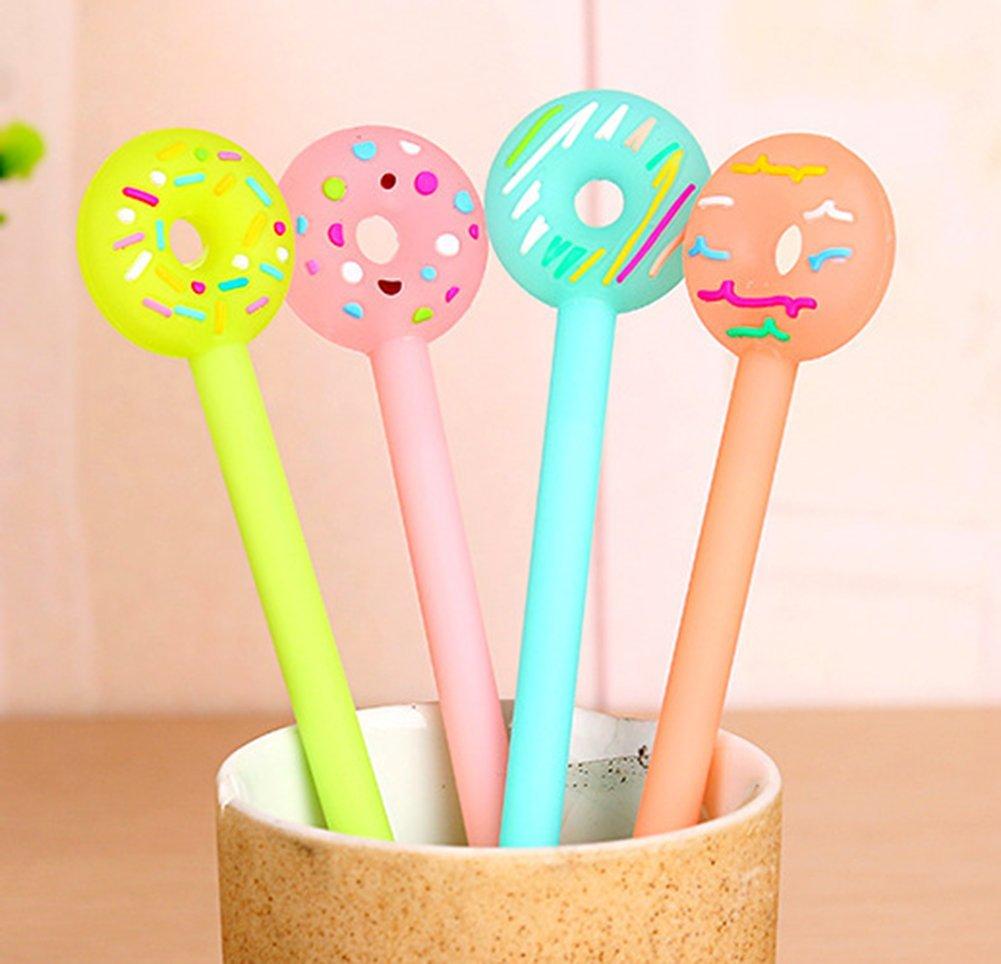 Cosanter Set de 12pcs Gel Crayons Stylos bricolage pour l/écriture de Dessin Donuts Couleur Al/éatoire