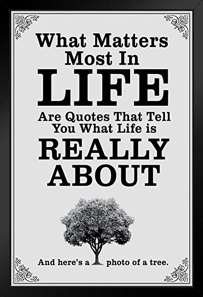 Amazon What Matters Most In Life Are Quotes White Framed Poster Mesmerizing Posters With Quotes On Life