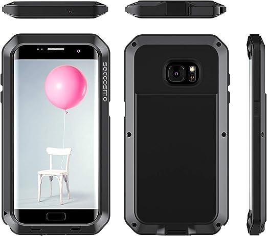 seacosmo Funda Compatible con Galaxy S7 Edge, [Rugged Armour ...