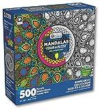 Karmin International Color a Puzzle - Mandalas Peacock Feather Design Puzzle (500 Piece)