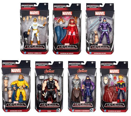 Marvel Legends Thor (2015 Avengers Marvel Legends Infinite Series Figure Set of 7 - (THOR, HAWKEYE, IRON FIST, MACHINE MAN, SCARLET WITCH, CAPTAIN MARVEL,)