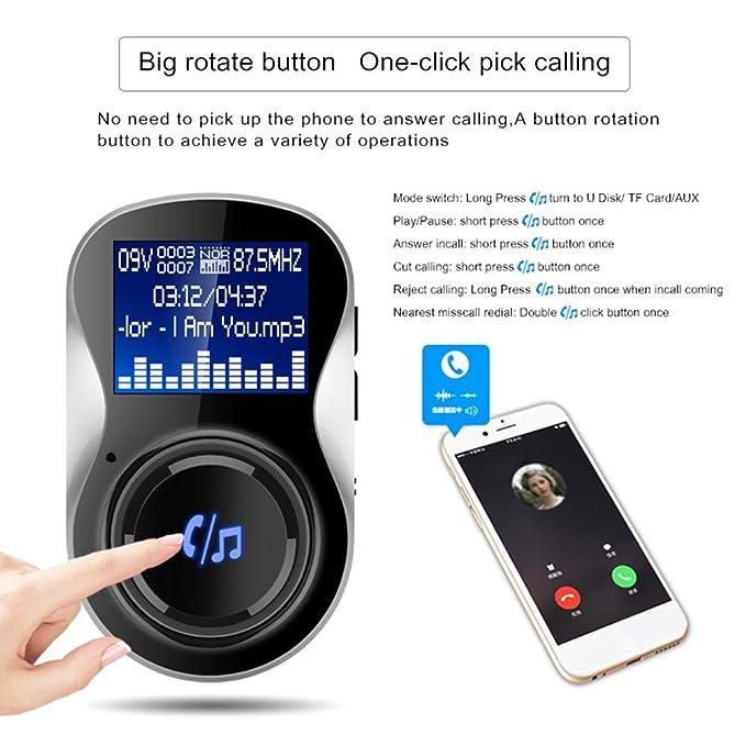 HighPlus in-Car Bluetooth FM Transmitter MP3 Music Player USB ...