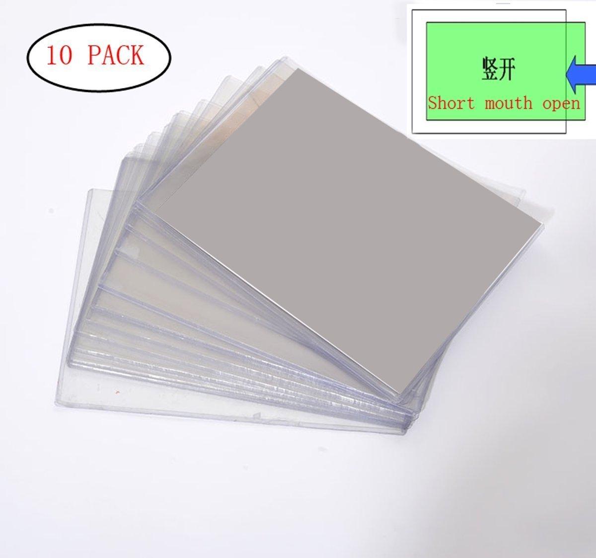Popowbe 10 Pcs Hard Plastic Case Transparent File Menu