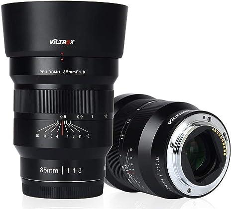VILTROX - Lente F1.8 de 85 mm con enfoque manual y enfoque manual ...