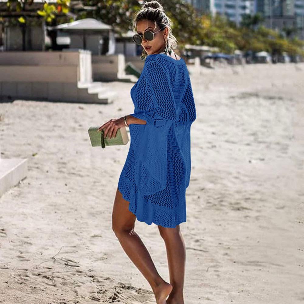 Tuopuda Mujeres Gasa Pareos Playa Manto Protector Solar Larga Vestido Traje De Ba/ño Bikini Cubierta hasta Ropa De Playa