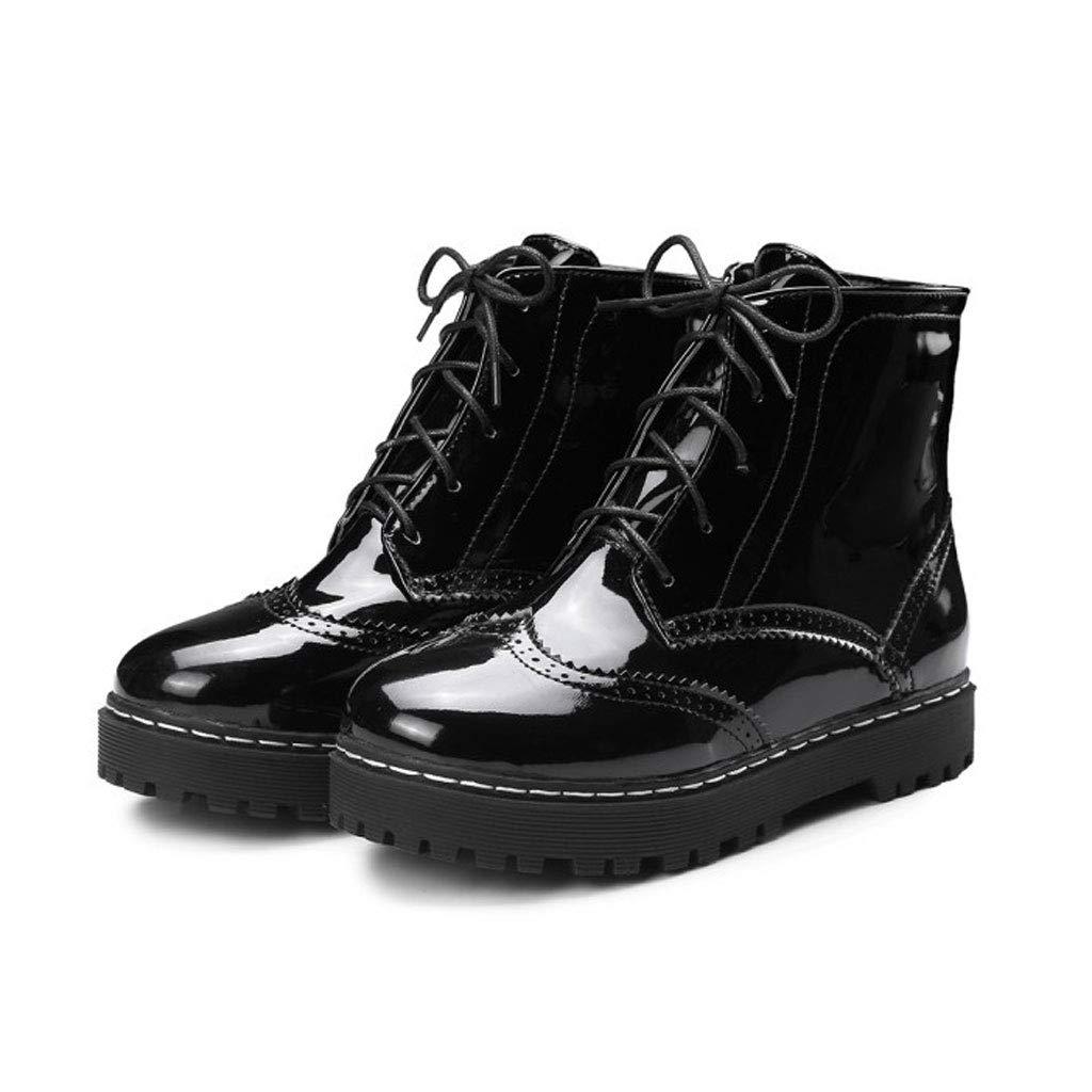 Spitze Ankle Stiefel, Flache Runde Martin Stiefel Wasserdichte Plattform Kurze Stiefel Rutschfeste Niedrige Stiefel Frauen Hohle Freizeitschuhe