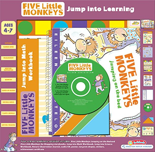 Five Little Monkeys Jump into Learning (A Five Little Monkeys Story) (Five Little Monkeys Jumping On The Bed Cd)