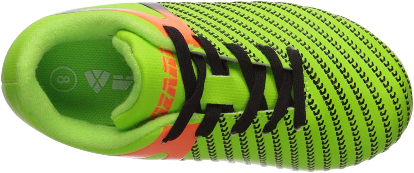Vizari Unisex-Kids Impact FG Green//Orange Size 6 Soccer Shoe 6 Regular US Big Kid