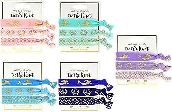 Corbatas de pelo de sirena, 30 piezas coloridas para el cabello ...