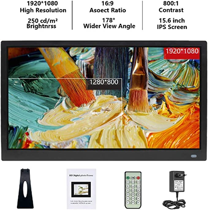 Mengen88 Smart Digital Photo Frame 11.6 Inches Picture Frame with Remote Control 1080P High Definition Photo//Video Player Support Various Display Modes,Black