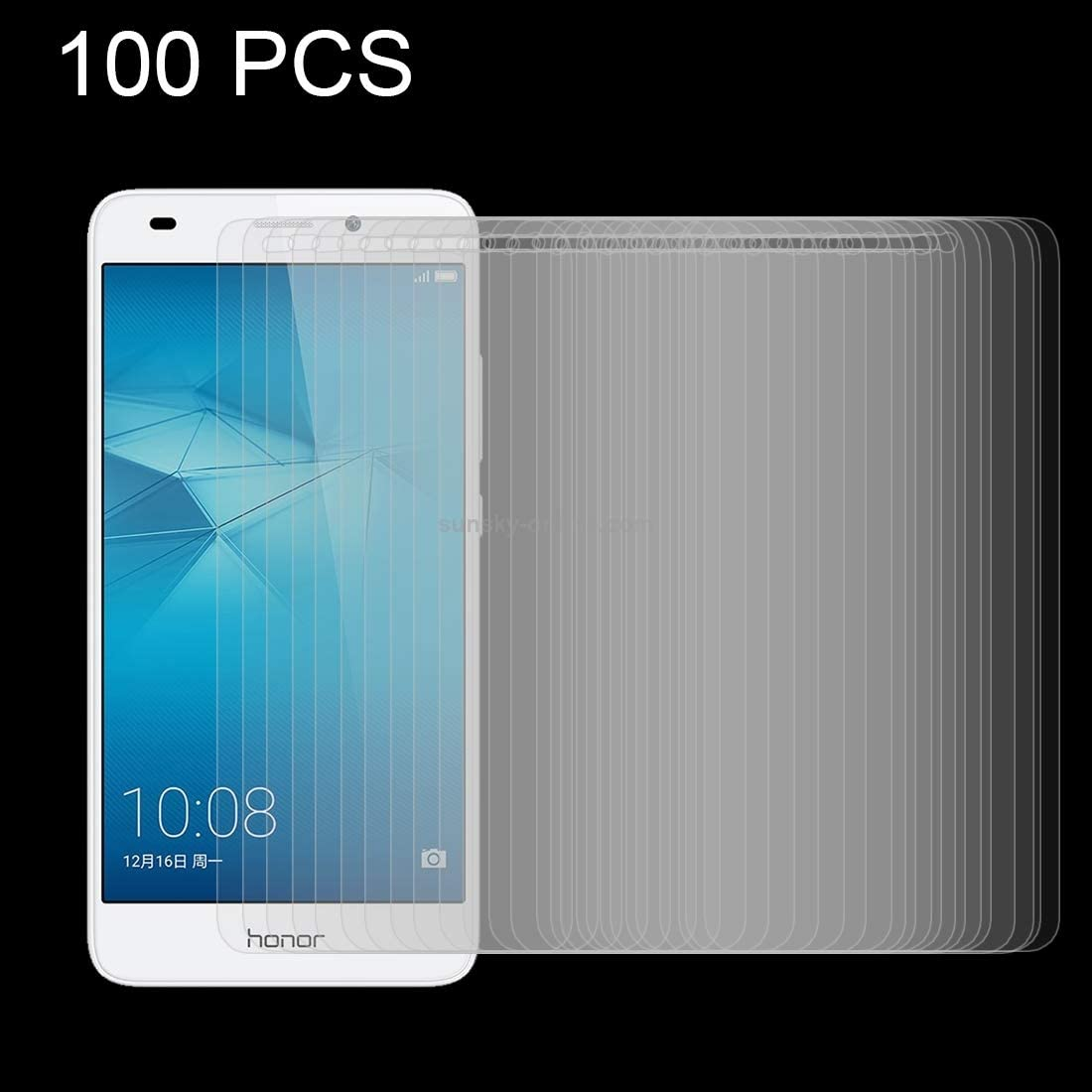 JUUANFDFINGD Cell Phones Screen Protectors 100 PCS for Huawei Honor 5c 0.26mm 9H Surface Hardness Explosion-Proof Tempered Glass Screen Film