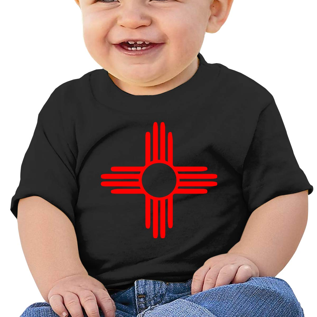 New Mexico Sun Zia Baby T-Shirt Toddler Cotton T Shirts Funny Clothes for 6M-2T Baby