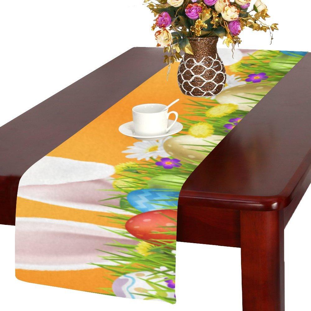 Artsadd Happy Easter Egg Rabbitキッチンダイニングテーブルランナー14 x 72インチforディナーパーティー、イベント、装飾   B06WLHP56Q
