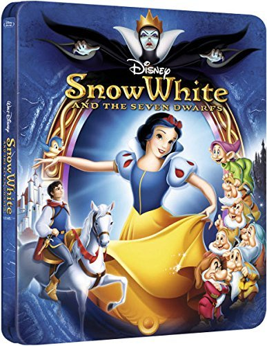 Disney Snow White and the Seven Dwarfs Zavvi Exclusive Limited Edition Embossed SteelBook Blu-ray. (Region B UK Import). LImited to 4,000 (Snow White Special Edition)