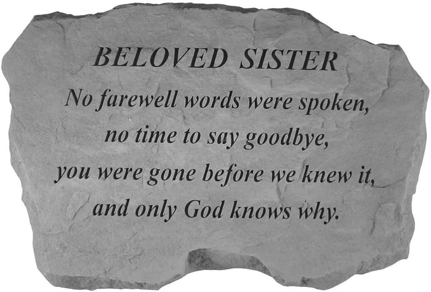 Kay Berry Inc Beloved Sister-No Farewell Words…, Multi Color