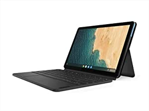 "Lenovo Chromebook Duet, 2-in-1, 10.1"" WUXGA (1920 x 1200) Display, MediaTek Helio P60T, 4GB LPDDR4X RAM, 128GB eMCP SSD, Integrated ARM G72 MP3 Graphics, Chrome OS, ZA6F0031US, Ice Blue + Iron Grey"
