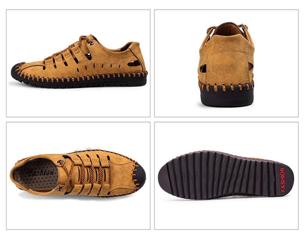 Qiusa Herren Schnürschuhe Mokassins Soft Sohle Rutschfeste Casual Breathable Driving Größe Schuhes (Farbe : Gelb, Größe Driving : EU 45) Gelb 1f18d4