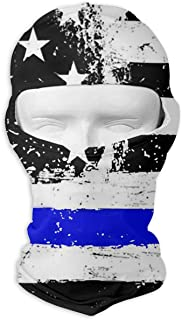 Jxrodekz Grunge American Flag Thin Blue Line Winter Motorcycle Full Face Mask Dust Proof Head Hood for Men and Women
