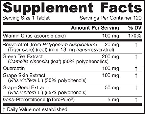Jarrow Formulas - Resveratrol Synergy by Jarrow 120 tab Health Beauty (Pack of 8) by Jarrow Formulas (Image #1)