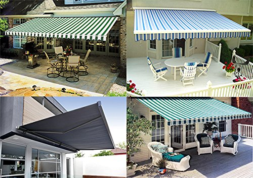 New 12 X10 Outdoor Patio Manual Retractable Sun Shade