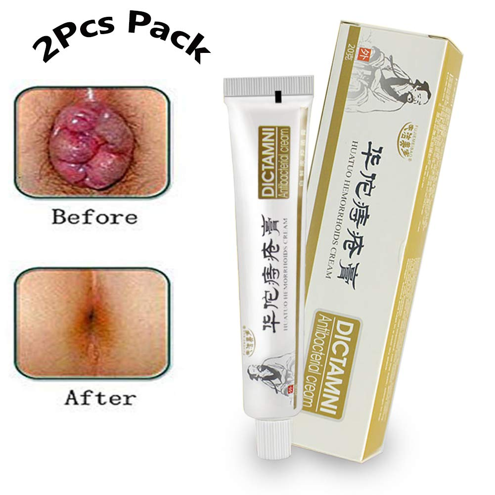 Chinese Herbal For Treatment Hemorrhoids Cream Anus Prolapse Anal Fissure Antibacterial Cream By Shouhengda (2Pcs Pack)