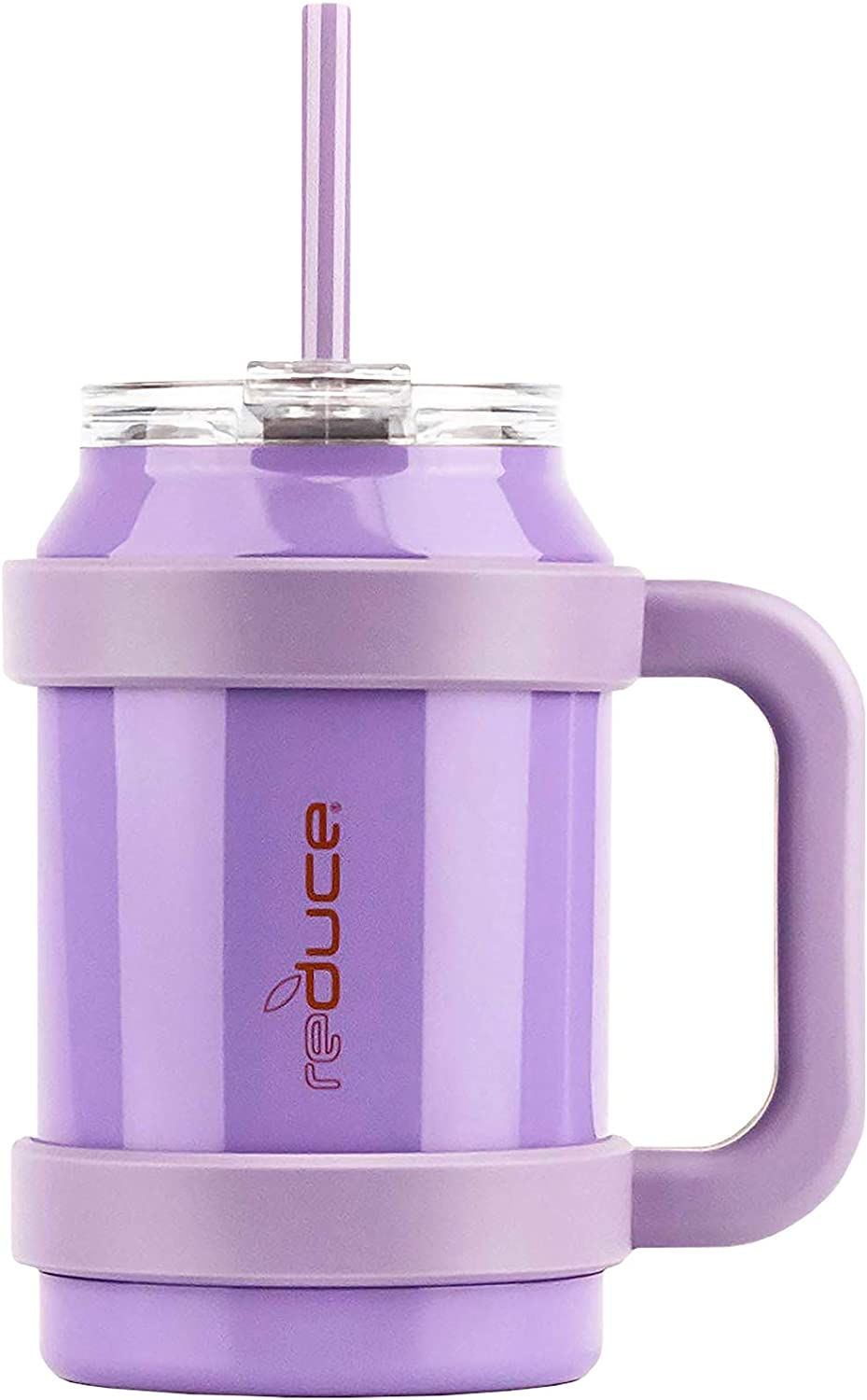 Reduce Cold1 32oz Large Water Mug With Straw and Easy-Carry Handle – Perfect Large Tumbler for Hot and Cold Drinks, 30 Hours Cold – Sweat-Proof Body, Leak-Proof Lid, BPA Free–Opaque Gloss Purple