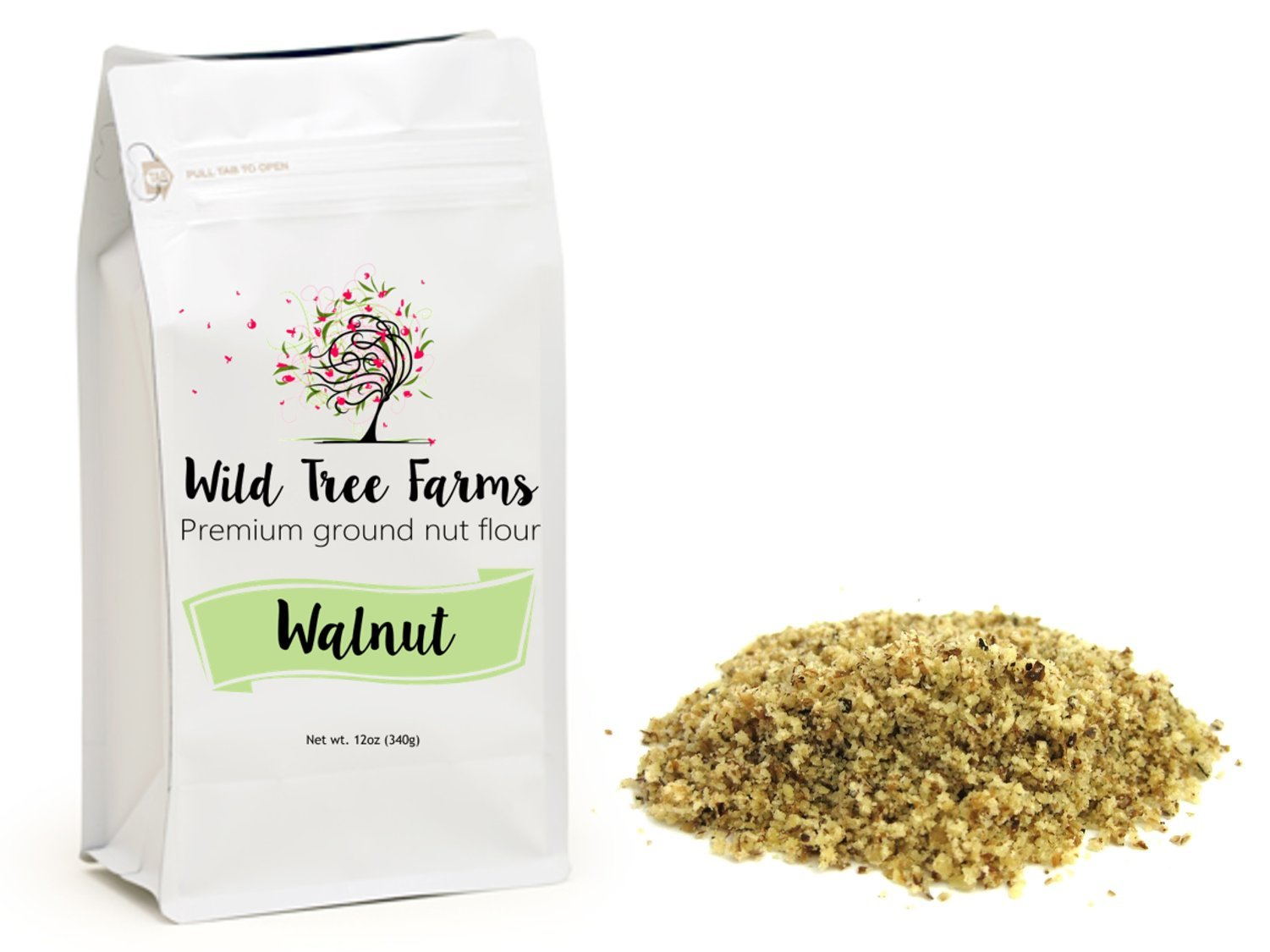 Wild Tree Farms Premium Gluten-free, Grain-free, Paleo Baking Flours: Walnut Flour - 1 Pack