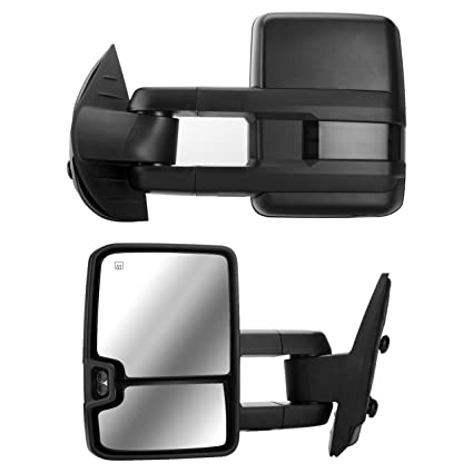Amazon Com Dedc Tow Mirrors Pair Fit For Chevy Silverado 1500 2500