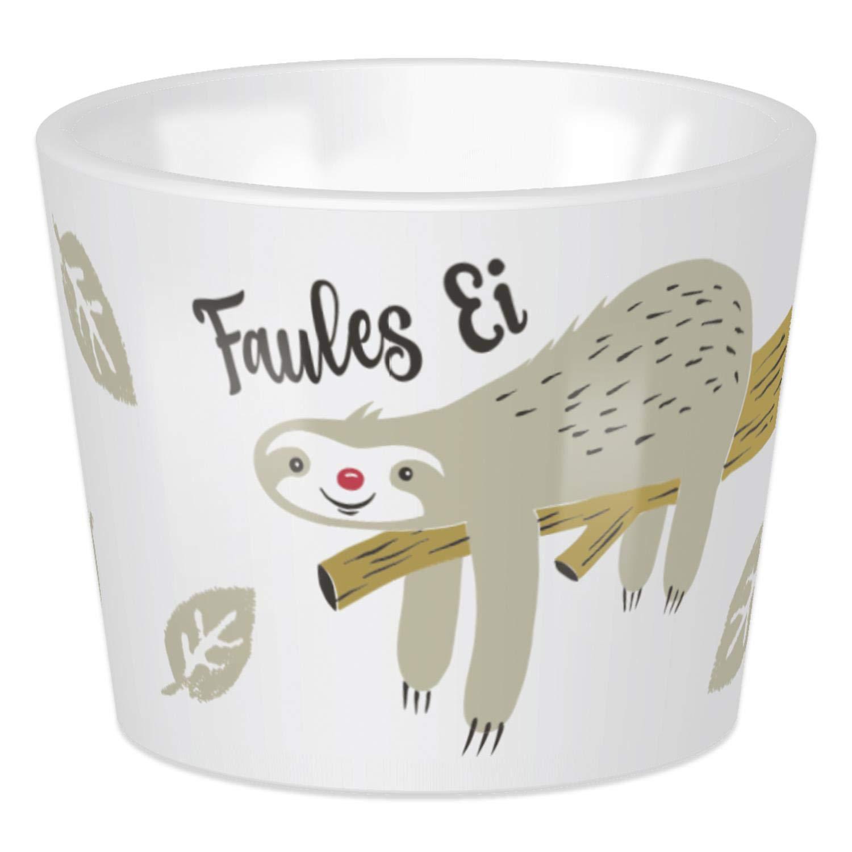 Sheepworld Happy Life–45386Egg Cup Sloth Faules Egg 5cm x 4cm, Porcelain, Dishwasher Safe