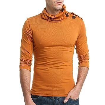 ZHRUI Hombre-Tops Liquidación Otoño Color Puro Manga Larga Pullover Choker Sudaderas Top Blusa (Color : Naranja, tamaño : CN 2XLUK 16): Amazon.es: Hogar