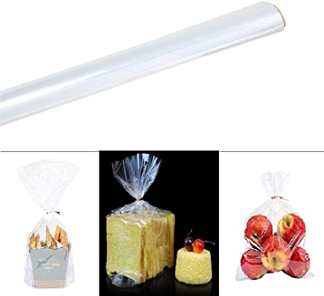 Laojbaba 100 Ft X16 Inch 2 3 Mil Thick Clear Cellophane Wrap Roll For Gifts Candy Bread Chocolate Fruit Baskets