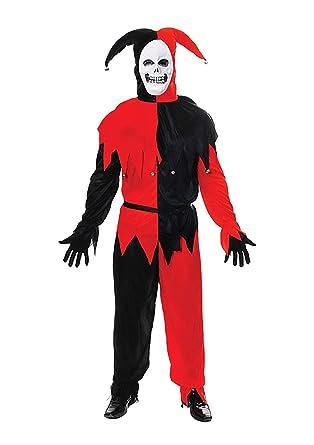 Hi Fashionz - Disfraz de Payaso de Navidad para Adulto, Color Rojo ...
