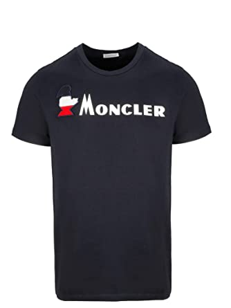 064d7612c Image Unavailable. Image not available for. Color: Moncler Men's  80418508390T778 Blue Cotton T-Shirt