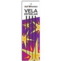 Vela Para Aniversario Estrelar C/04 - Pacote Com 10 Kl Folhasfestas Multicor