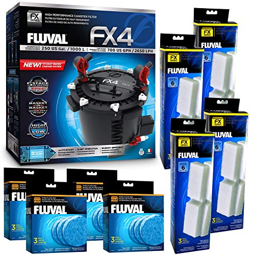 - Fluval FX4 Filter w/Filter Foam & Filter Pad (12 Month Supply)