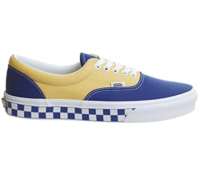 85294007e755 Vans Unisex Era (BMX Checkerboard) True Blue Yellow VN0A38FRU8I Mens 12