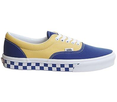 2ad8fd3ddf2d54 Vans Unisex Era (BMX Checkerboard) True Blue Yellow VN0A38FRU8I Mens 12