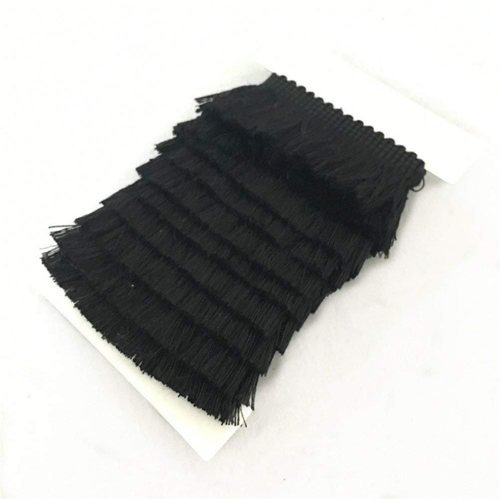 25mm Wide Cotton Fringe Tassel Trim 5 Yards Coffee