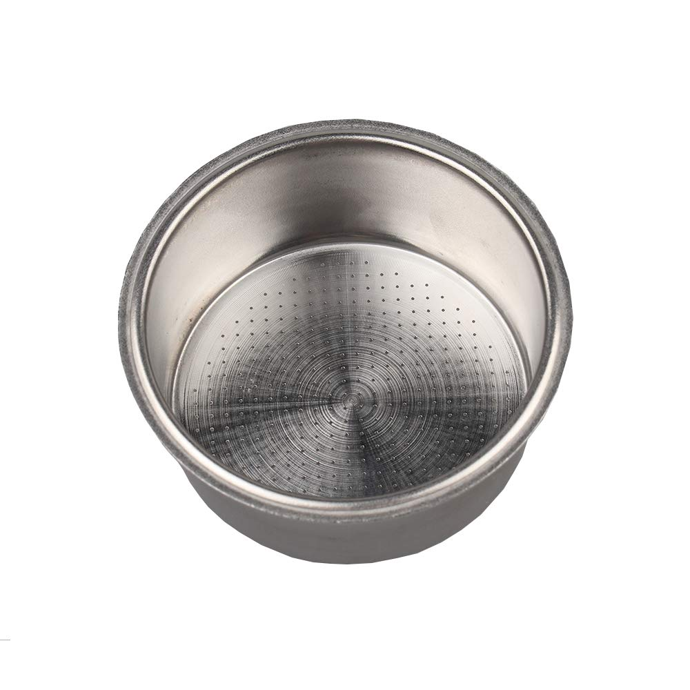 Stainless Steel Coffee Filter, Double Cup Coffee 51mm Pressurized Porous Filter Basket For Part Type Of Breville And GUSTINO