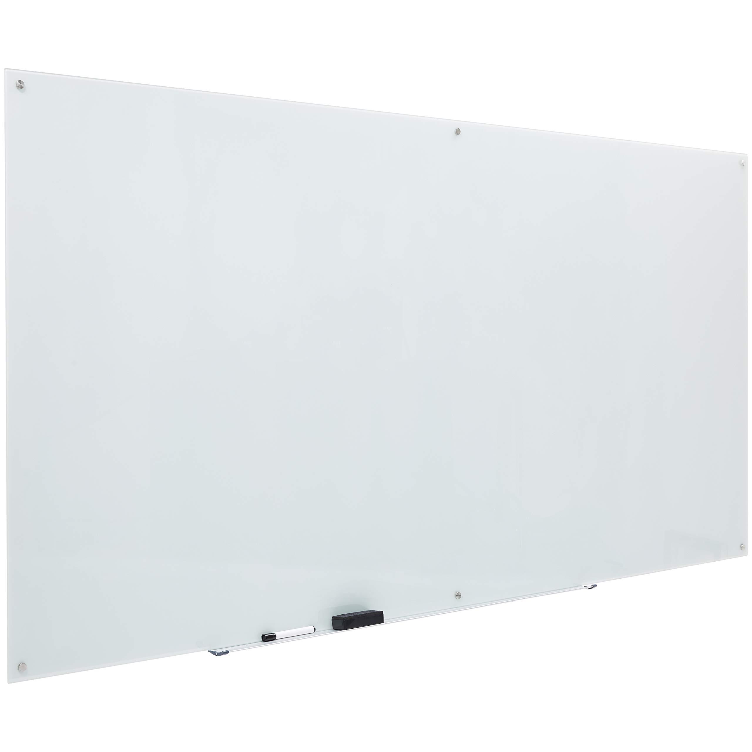 AmazonBasics Glass Dry-Erase Board - White, Magnetic, 8 Feet x 4 Feet by AmazonBasics