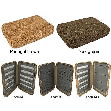 aventik Portugal cajas para moscas naturaleza corcho laminado, mejor Tamaño de bolsillo, para todo