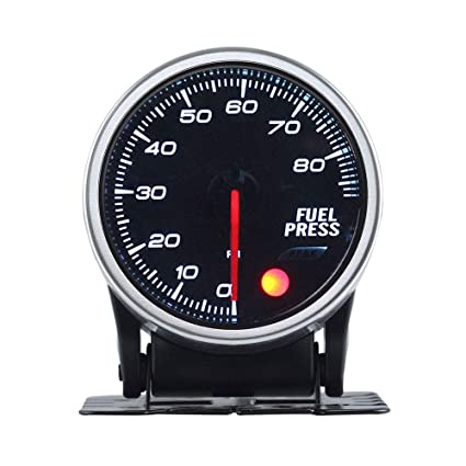 0-80 PSI Fuel Pressure Gauge Analog 2 Inch Clear Lens Universal for Car
