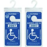 Handicap Parking Placard Holder, Ultra Transparent Disabled Parking Permit Placard Protective Holder Cover with Large Hanger by Tbuymax (Set of 2)