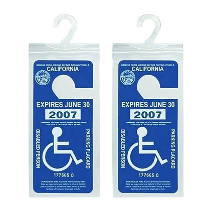 Handicap Parking Placard Holder Ultra Transparent