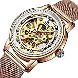Bestn Wristwatches Women's Skeleton Crystal Auto Mechanical Watch